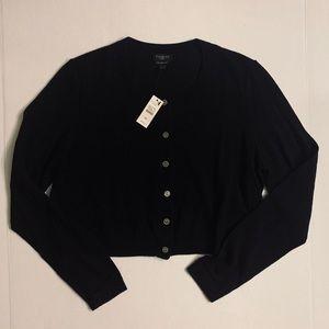 NWT Talbots Merino Wool Button Cropped Cardigan